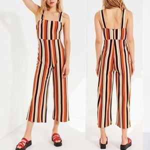 Urban Outfitters Delaney Striped Jumpsuit S